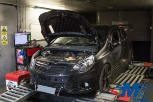 Vauxhall Corsa VXR tuned on the rolling road