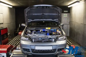 Vauxhall Astra Coupe Turbo tuned on the rolling road