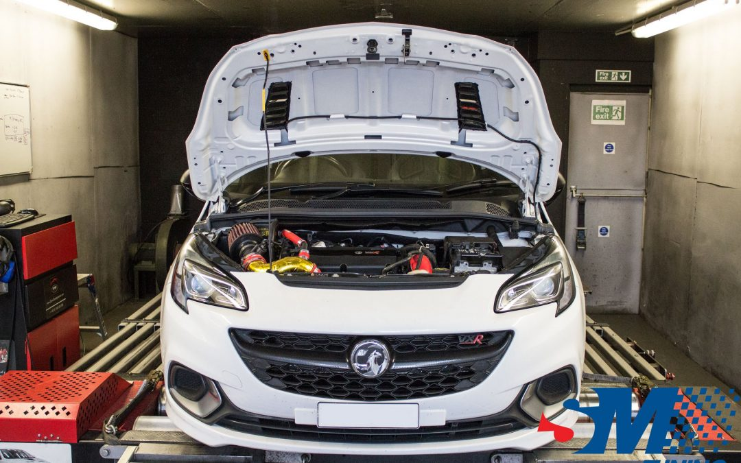 Vauxhall Corsa E VXR tuned on the rolling road