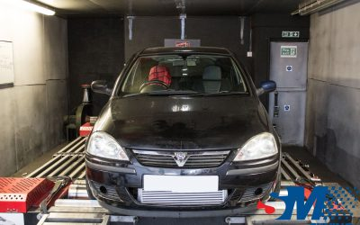 Vauxhall Corsa C Z20LET tuned on the rolling road