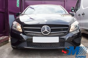 Mercedes A180 CDi tuned in Mill Hill, London.