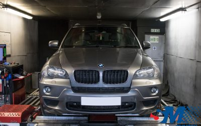 BMW X5 3.0D 2008 tuned on the rolling road