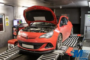 Vauxhall Astra J VXR tuned on the rolling road.