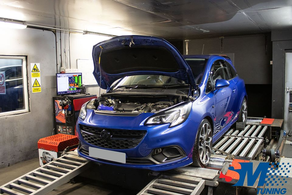 Vauxhall Corsa E VXR tuned on the rolling road.